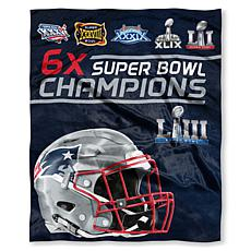 "Officially Licensed NFL Patriots ""6x Super Bowl Champions"" Silk Thr..."