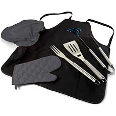 Officially Licensed NFL Picnic Time Apron Tote Pro Grill Set Panthers