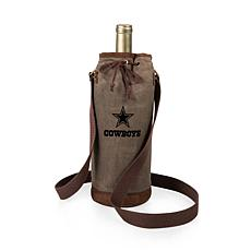 Officially Licensed NFL Picnic Time Waxed Canvas Wine Tote - Dallas