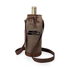 Officially Licensed NFL Picnic Time Waxed Canvas Wine Tote - Seattle