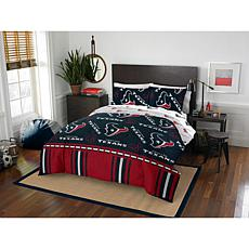 Officially Licensed NFL Queen Bed in a Bag Set - Houston Texas