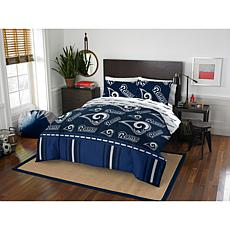 Officially Licensed NFL Queen Bed in a Bag Set - Los Angeles Rams