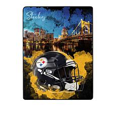 Officially Licensed NFL Rise Silk Touch Throw Blanket