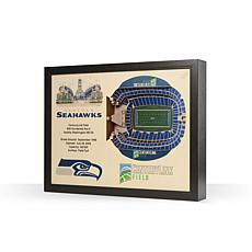 Officially Licensed NFL Seattle Seahawks StadiumView 3D Wall Art