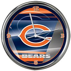 Officially Licensed NFL Shadow Chrome Clock - Bears