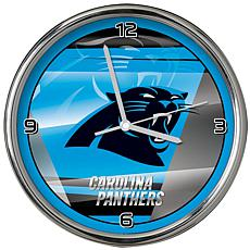 Officially Licensed NFL Shadow Chrome Clock - Panthers