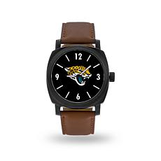 "Officially Licensed NFL Sparo ""Knight"" Faux Leather Watch - Jaguars"