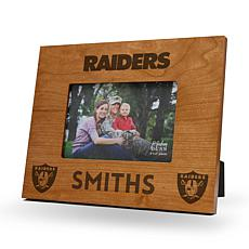 Officially Licensed NFL Sparo Personalized Wood Picture Frame - Rai...
