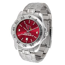 Officially Licensed NFL Sports Steel Watch - Arizona Cardinals