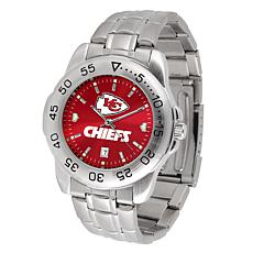 Officially Licensed NFL Sports Steel Watch - Kansas City Chiefs