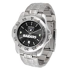 Officially Licensed NFL Sports Steel Watch - Oakland Raiders