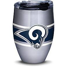Officially Licensed NFL Stripes 12oz. Steel Tumbler w/Lid - LA. Rams