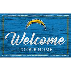 Officially Licensed NFL Team Color Sign - Los Angeles Chargers