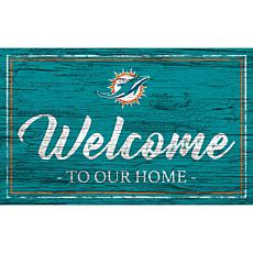 Officially Licensed NFL Team Color Sign - Miami Dolphins