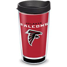 Officially Licensed NFL Touchdown 16-oz Tumbler w/ Lid - Atl. Falcons