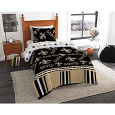Officially Licensed NFL Twin Bed In a Bag Set - New Orleans Saints