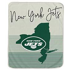 Officially Licensed NFL Ultra Fleece State Stripe Throw Blanket - Jets