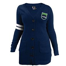 Officially Licensed NFL Varsity Cardigan - Seahawks