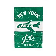 Officially Licensed NFL Vintage Linen Garden Flag - Jets