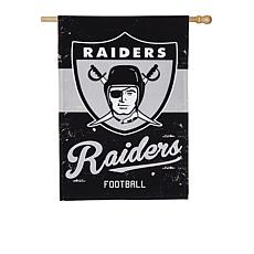 Officially Licensed NFL Vintage Linen House Flag - Raiders