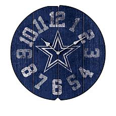 Officially Licensed NFL Vintage Round Clock