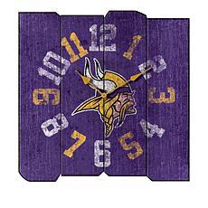 Officially Licensed NFL Vintage Square Clock