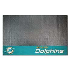Officially Licensed NFL Vinyl Grill Mat  - Miami Dolphins