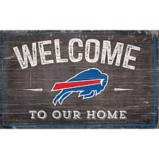 Officially Licensed NFL Welcome Sign - Buffalo Bills
