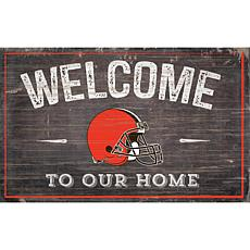 Officially Licensed NFL Welcome Sign - Cleveland Browns