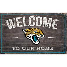 Officially Licensed NFL Welcome Sign - Jacksonville Jaguars