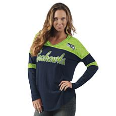 Officially Licensed NFL Women's Long-Sleeve Red Zone Tee by Glll