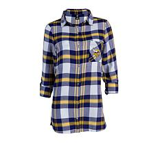 Officially Licensed NFL Women's Plaid Night Shirt by Concepts Sport