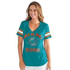 Officially Licensed NFL Women's Wildcard Short-Sleeve Tee by Glll