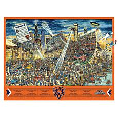 Officially Licensed NFL  Wooden Joe Journeyman Puzzle - Chicago Bears