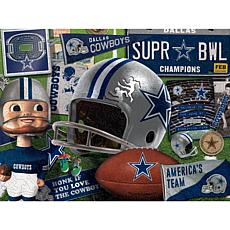 Officially Licensed NFL  Wooden Retro Series Puzzle - Dallas Cowboys