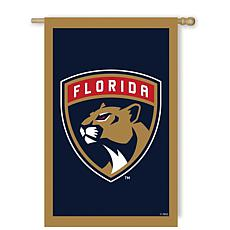 Officially Licensed NHL Applique House Flag - Florida Panthers