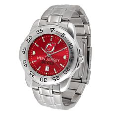 Officially Licensed NHL Sport Steel Series Watch - New Jersey Devils