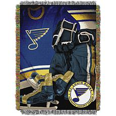 Officially Licensed NHL Vintage Woven Tapestry Throw Blanket - Blues