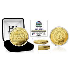 """Officially Licensed """"Stadium"""" Gold Mint Coin - Texas Rangers"""