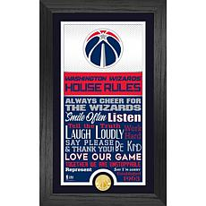 Officially Licensed Washington Wizards House Rules Coin Photo Mint