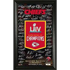 OfficiallyLicensed Chiefs SuperBowl 54 Banner Raising Signature Photo