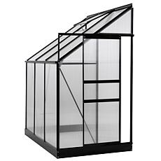 Ogrow Aluminum Lean-To Greenhouse with Sliding Door & Roof Vent