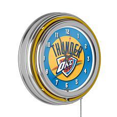 Oklahoma City Thunder Double Ring Neon Clock
