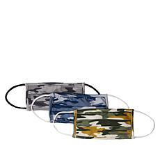 Olive and Vine 3-pack Camo Reusable Face Coverings