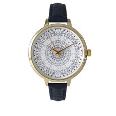 Olivia Pratt Astrological Compass Faux Leather Watch