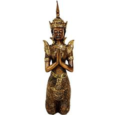 "Oriental Furniture 16"" Thepenom Thai Angel Statue"