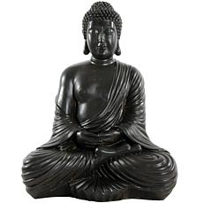 "Oriental Furniture 17"" Japanese Sitting Buddha Statue"