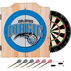 Orlando Magic NBA Wood Dart Cabinet Set