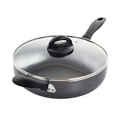 Oster Clairborne 10.25 inch Saute Pan with Lid in Charcoal Grey
