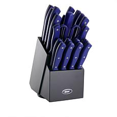 Oster Evansville 22-piece Stainless Steel Cutlery Set w/Storage Block